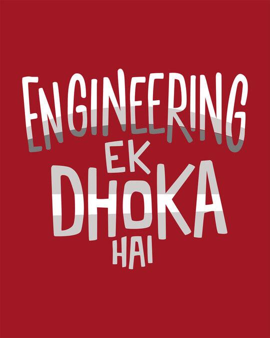 Shop Engineering Ek Dhoka Round Neck 3/4th Sleeve T-Shirt