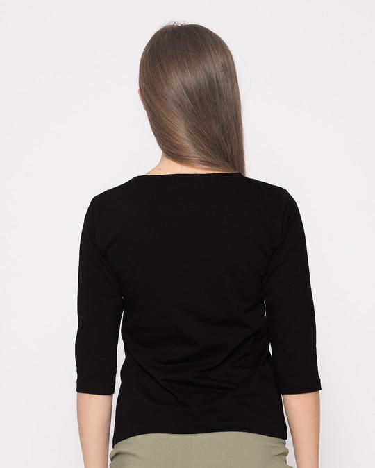 Shop English Peeto Round Neck 3/4th Sleeve T-Shirt-Full