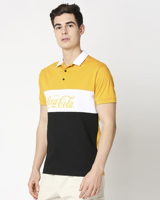 Shop Enjoy Coca-Cola Half Sleeves Polo T-Shirt-Design