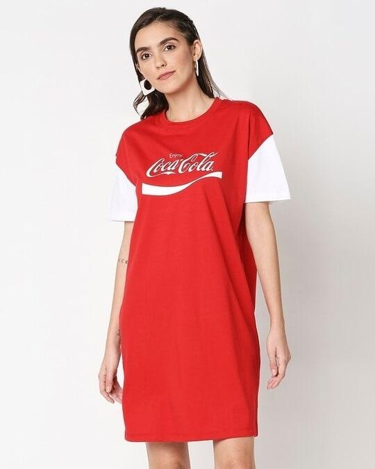 Shop Enjoy Coca-Cola Raglan Dress-Back