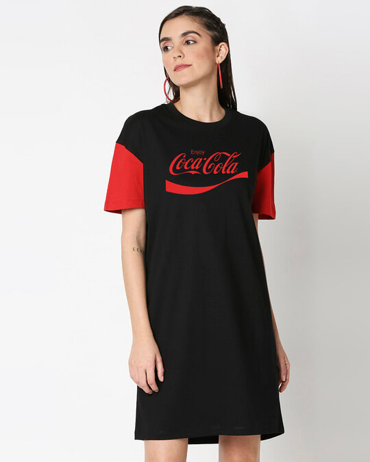 Shop Enjoy Coca-Cola Raglan Dress-Back