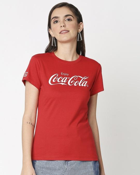 Shop Enjoy Coca-Cola Half Sleeves T-Shirt-Back