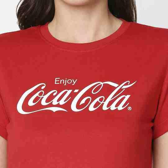 Shop Enjoy Coca-Cola Half Sleeves T-Shirt