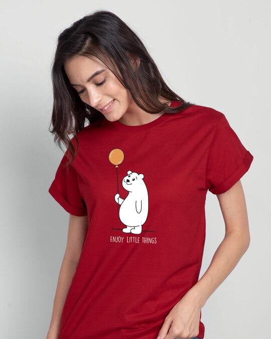 Shop Enjoy Little Things Boyfriend T-Shirt-Front
