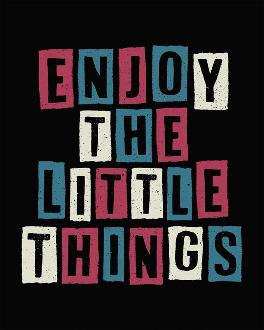 Shop Enjoy The Little Things Full Sleeve T-Shirt