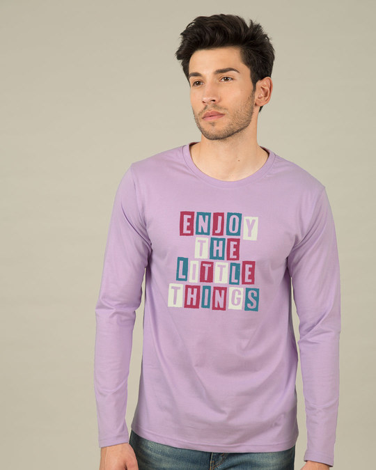 Shop Enjoy The Little Things Full Sleeve T-Shirt-Front