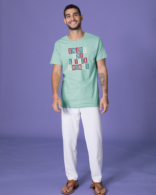 Shop Enjoy The Little Things Half Sleeve T-Shirt-Full