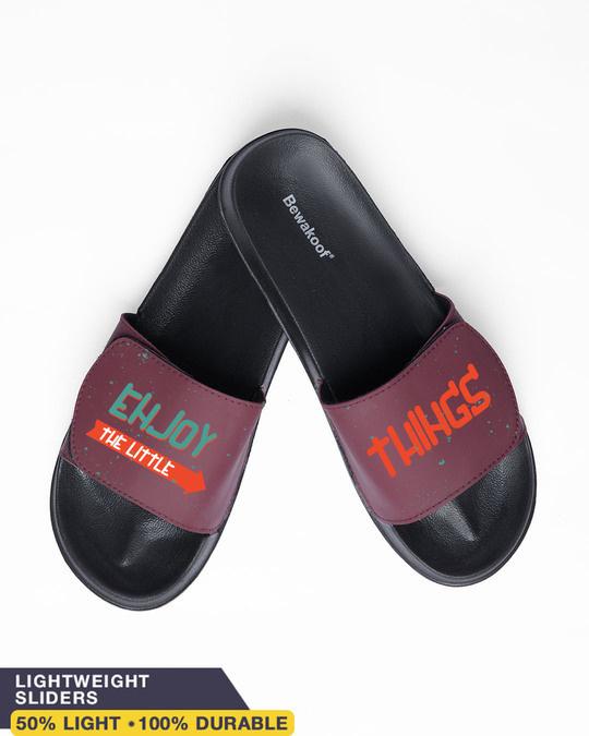 Shop Enjoy the Little Things Velcro Sliders (Lightweight)-Front
