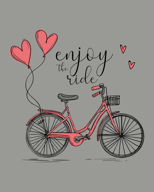 Shop Enjoy The Ride Bicycle Boyfriend T-Shirt
