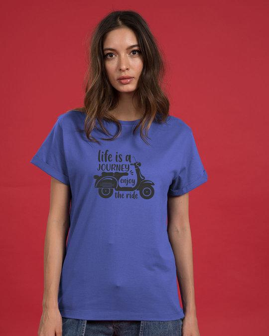 Shop Enjoy The Ride Boyfriend T-Shirt-Front