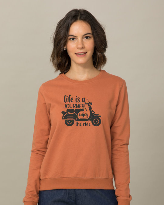 Shop Enjoy The Ride Fleece Sweater-Front
