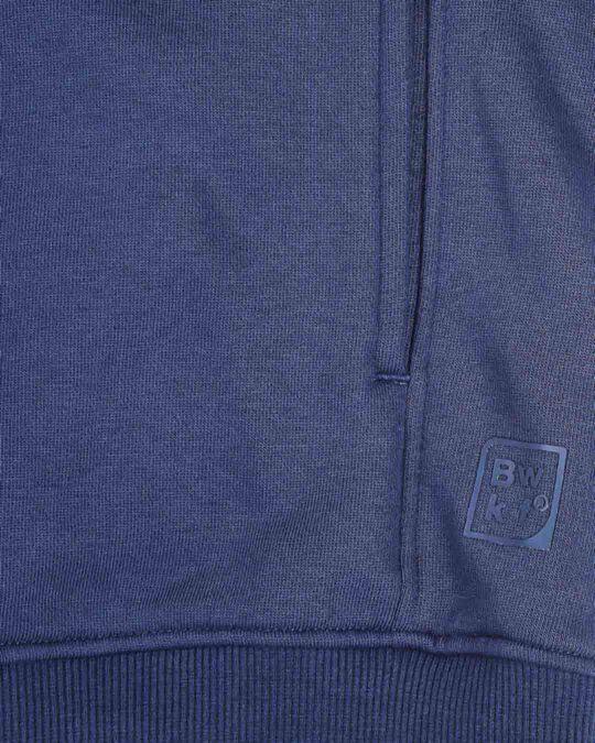 Shop Ensign Blue Stylised Panel Hoodie Sweatshirt