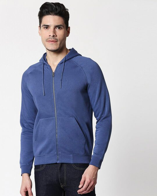 Shop Ensign Blue Zipper Hoodie-Back