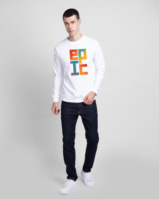 Shop Epic Stack Fleece Light Sweatshirt-Design