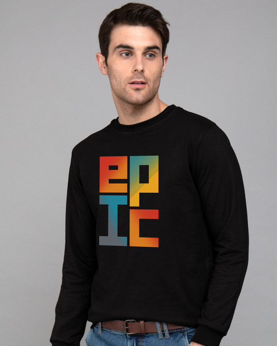 Shop Epic Stack Fleece Light Sweatshirt-Front