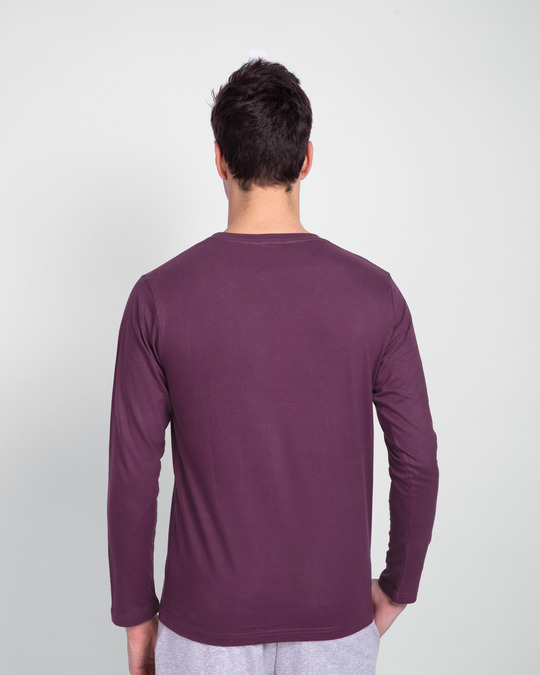 Shop EPIC Stack Full Sleeve T-Shirt Deep Purple-Back