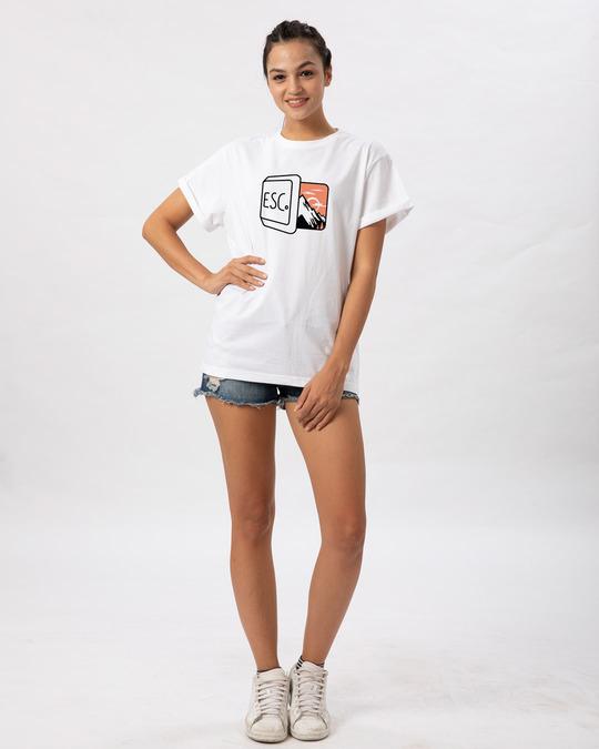 Shop Esc Boyfriend T-Shirt-Full