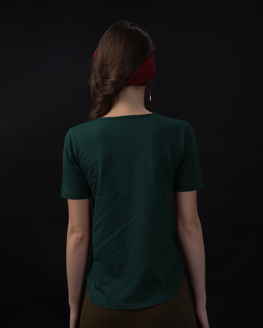 Shop Escape The Ordinary Basic Round Hem T-Shirt-Back