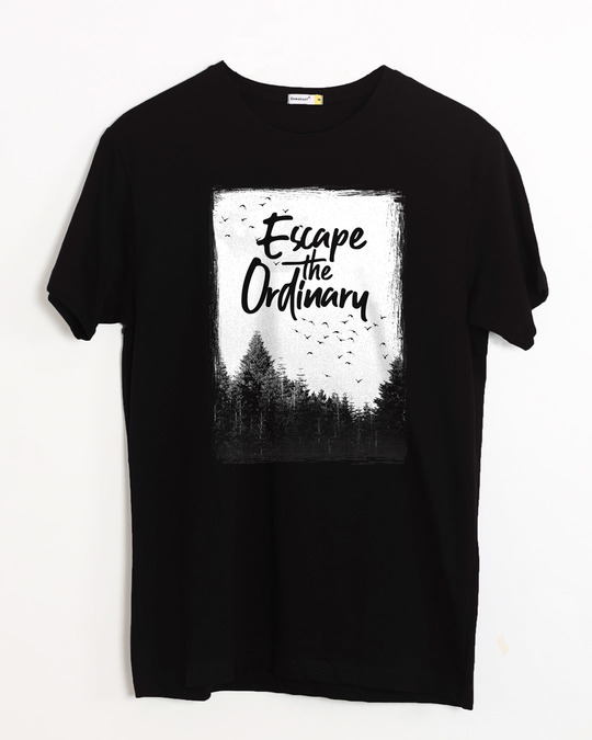 Shop Escape The Ordinary Half Sleeve T-Shirt-Front