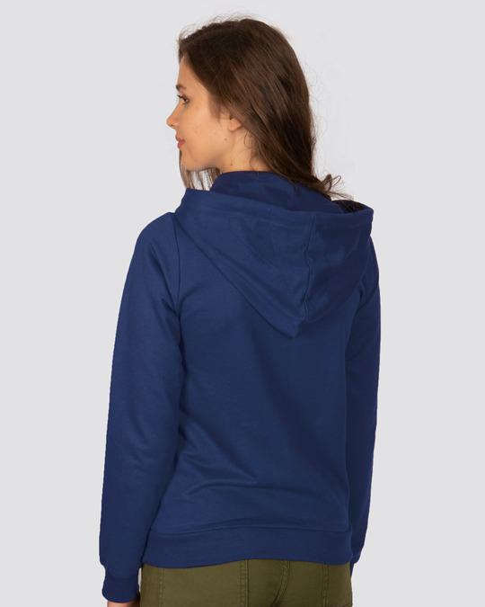 Shop Evening Blue Fleece Hoodies-Full