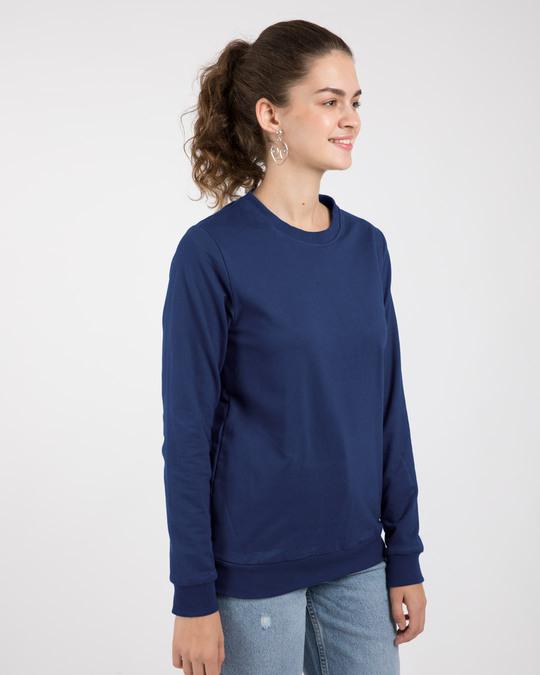 Shop Evening Blue Fleece Light Sweatshirt-Back