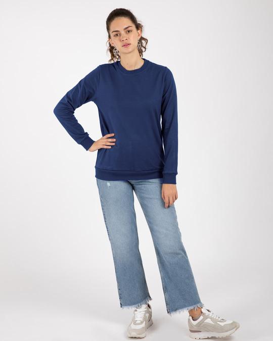 Shop Evening Blue Fleece Light Sweatshirt-Full