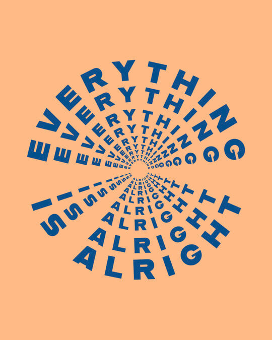 Shop Everything Is Alright Fleece Hoodies