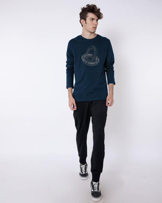 Shop Everything Is Connected full Sleeve T-Shirt Navy Blue-Full