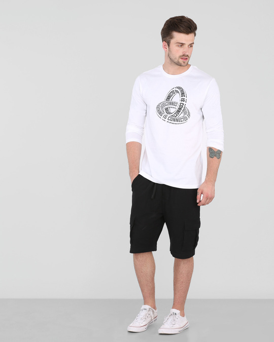 Shop Everything Is Connected full Sleeve T-Shirt White-Design