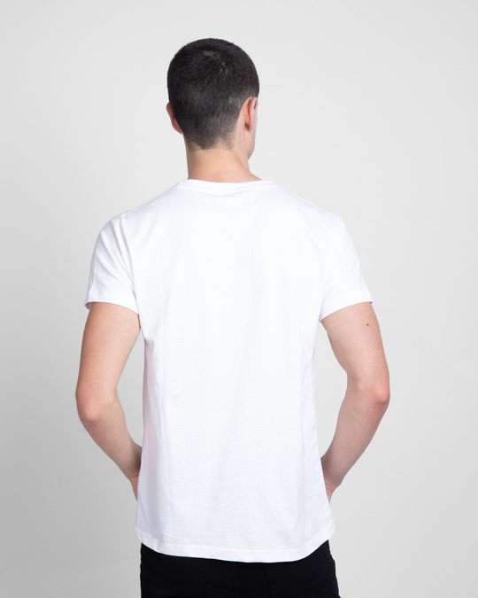 Shop Everything Is Connected Half Sleeve T-Shirt  (FL) White-Back