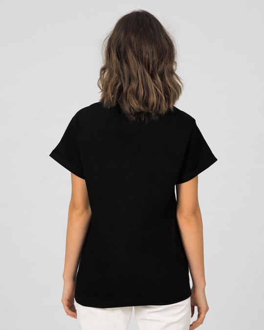 Shop Everything's Empty Boyfriend T-Shirt Black-Back