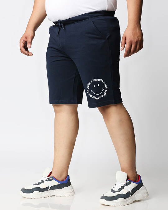 Shop Everything's Nice Plus Size Casual Shorts-Back