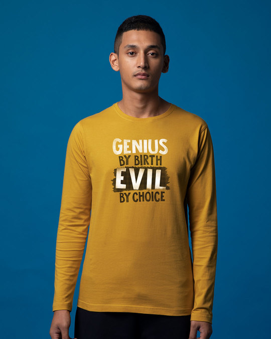 Shop Evil By Choice Full Sleeve T-Shirt-Front