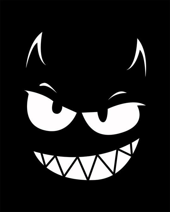 Shop Evil Smiley Boyfriend T-Shirt