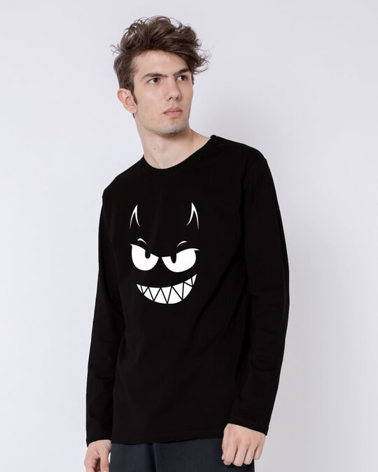 Shop Evil Smiley Full Sleeve T-Shirt-Back