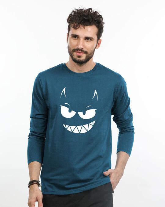 Shop Evil Smiley Full Sleeve T-Shirt-Front