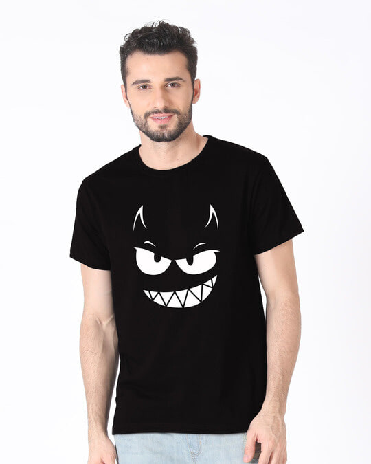 Shop Evil Smiley Half Sleeve T-Shirt-Back