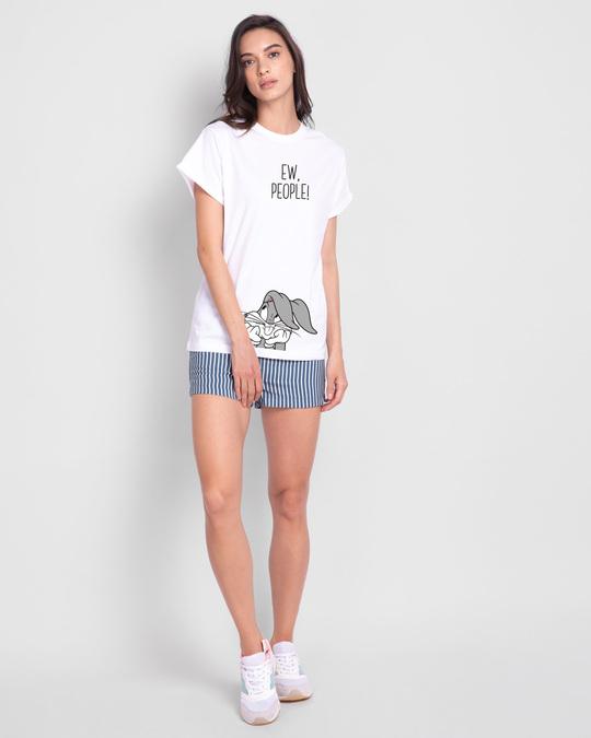 Shop Ew People Boyfriend T-Shirts White-Design