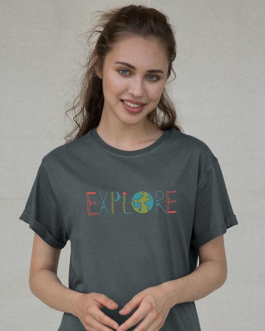 Shop Explore Colors Boyfriend T-Shirt-Front