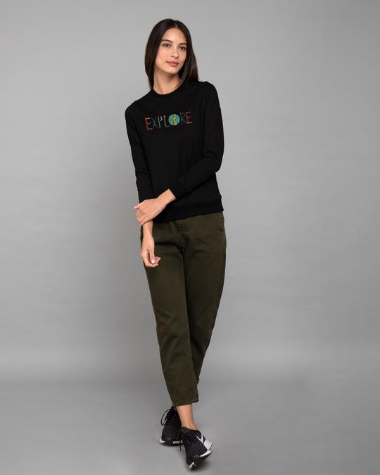 Shop Explore Colors Fleece Light Sweatshirt-Design
