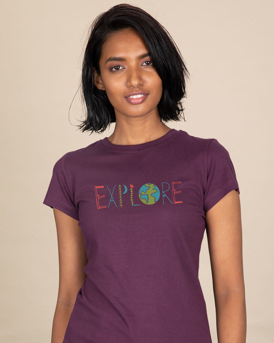 Shop Explore Colors Half Sleeve T-Shirt-Front