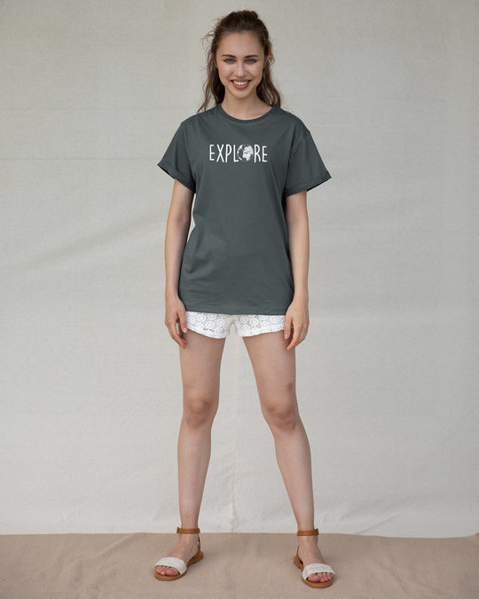 Shop Explore Globe Boyfriend T-Shirt-Design