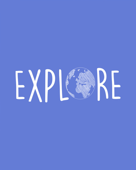 Shop Explore Globe Round Neck 3/4th Sleeve T-Shirt-Full