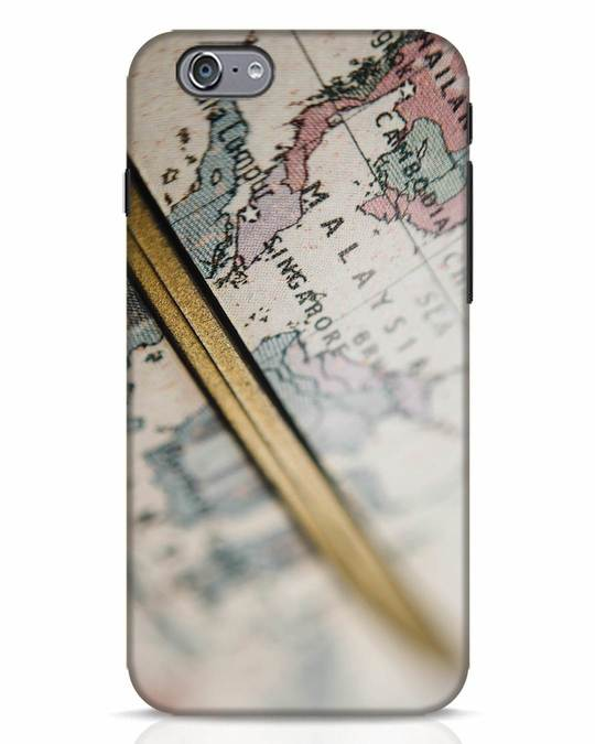 Shop Explore Map iPhone 6 Mobile Cover-Front