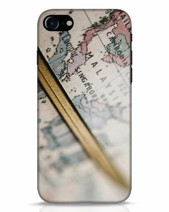 Shop Explore Map iPhone 7 Mobile Cover-Front