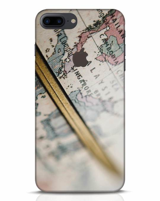 Shop Explore Map iPhone 7 Plus Logo Cut Mobile Cover-Front
