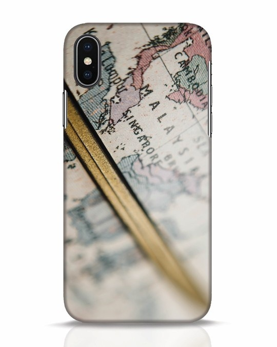 Shop Explore Map iPhone X Mobile Cover-Front