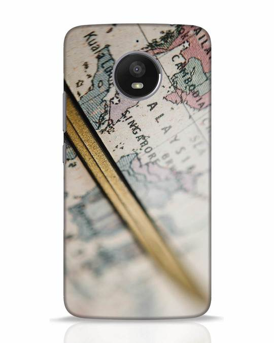 Shop Explore Map Moto E4 Plus Mobile Cover-Front