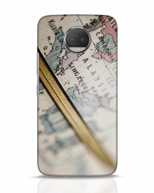 Shop Explore Map Moto G5s Plus Mobile Cover-Front
