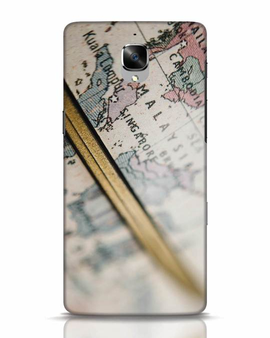 Shop Explore Map OnePlus 3T Mobile Cover-Front
